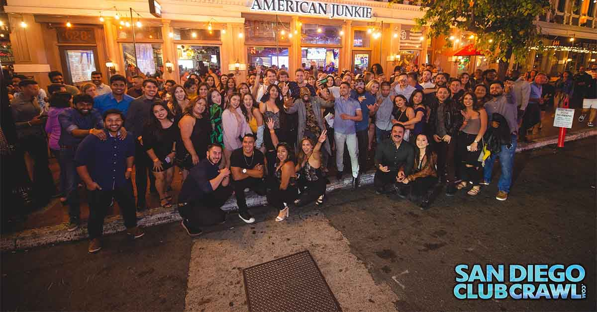 Group of people from the San Diego Club Crawl