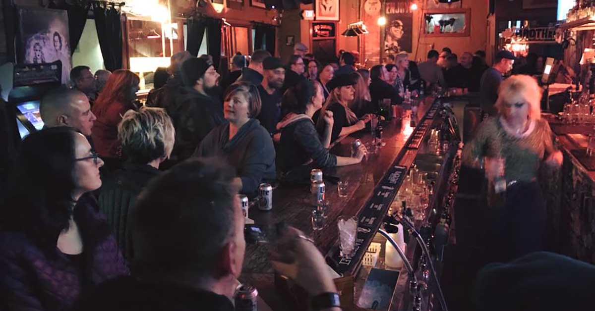 The bar area at Sabbatic Bar