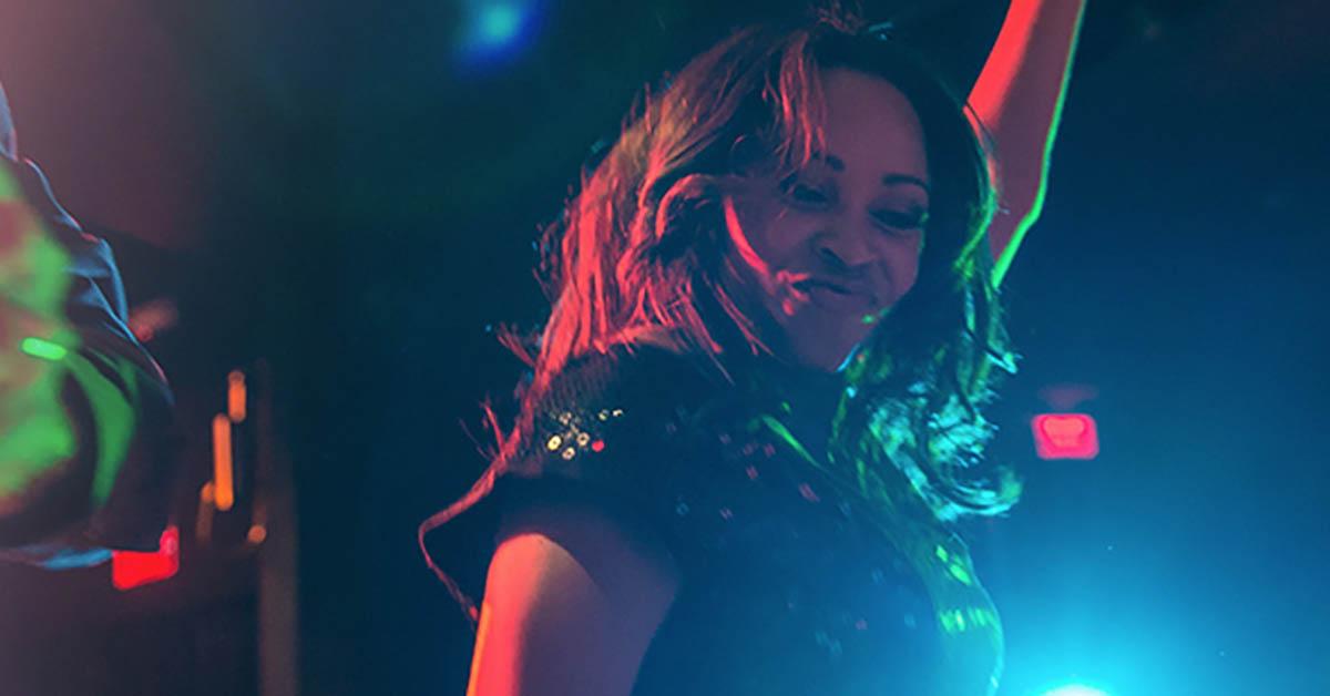 A girl dancing at Monsoon Nightclub