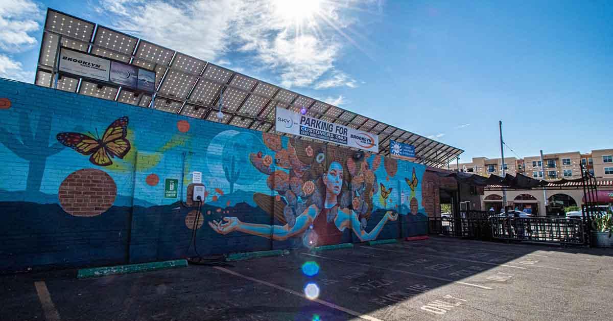 The mural at SkyBar
